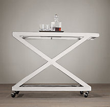 1950s Milo Bar Cart - Polished Nickel