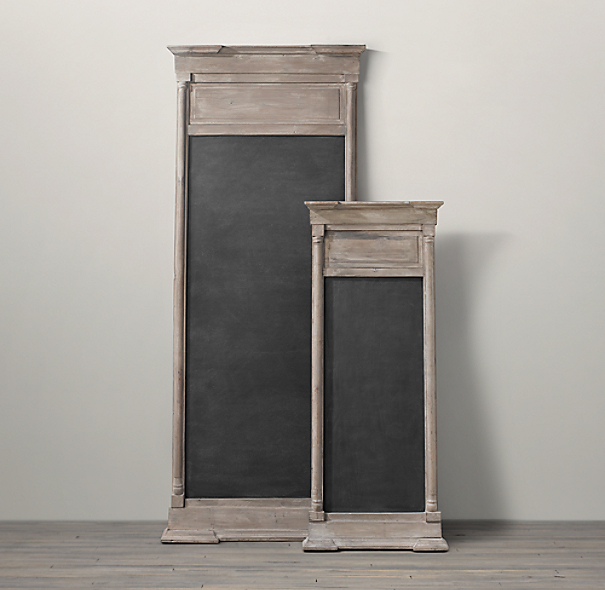 Salvaged Trumeau Chalkboard Natural