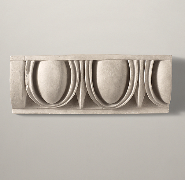 Architectural Plaster Fragments - Egg And Dart Frieze