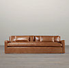 Belgian Slope Arm Leather Sofas