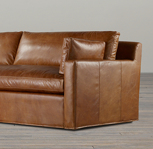 Belgian Track Arm Leather Sofas