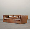 Belgian Shelter Arm Leather Sofas
