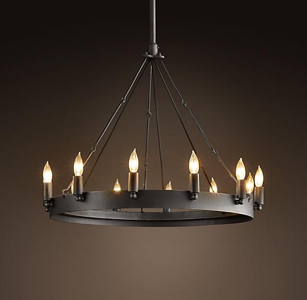 camino vintage candelabra round chandelier 26