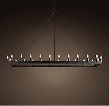 Camino Rectangle Chandelier Large