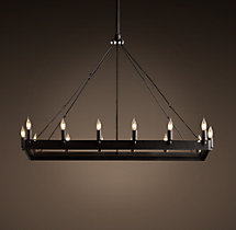 Camino Rectangle Chandelier Small