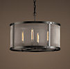 Riveted Mesh Chandelier Small