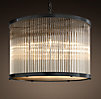 1920s Essex Crystal Rod Chandelier Large