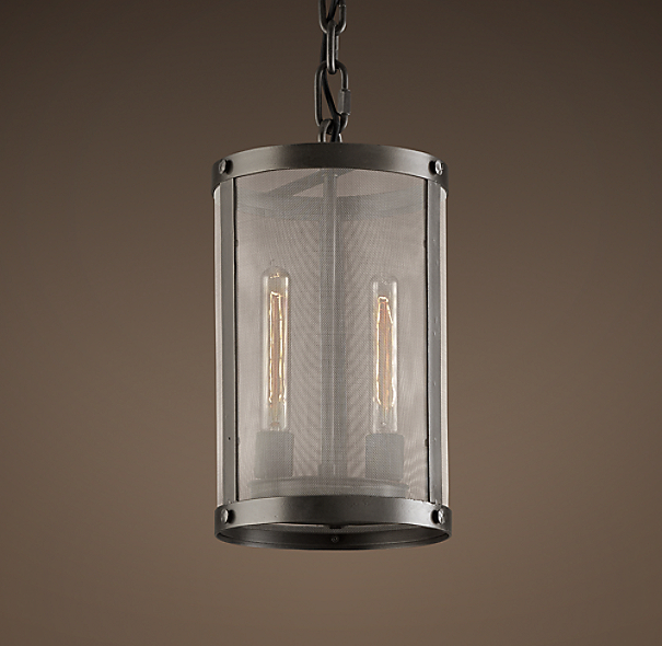 "Riveted Mesh 9"" Pendant"