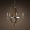 Wine Barrel 5-Arm Chandelier Polished Nickel
