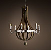 Wine Barrel 6-Arm Chandelier Polished Nickel