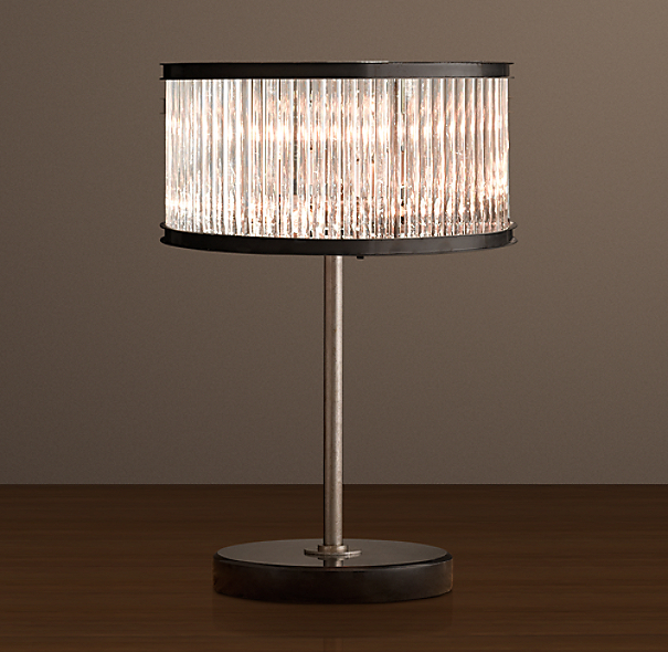 1920s Essex Crystal Rod Table Lamp