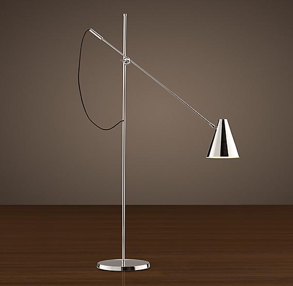 20th c torpedo task floor lamp. Black Bedroom Furniture Sets. Home Design Ideas