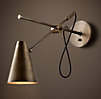 20th C. Torpedo Sconce Vintage Brass