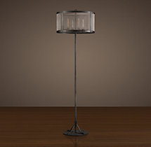 Riveted Mesh Floor Lamp