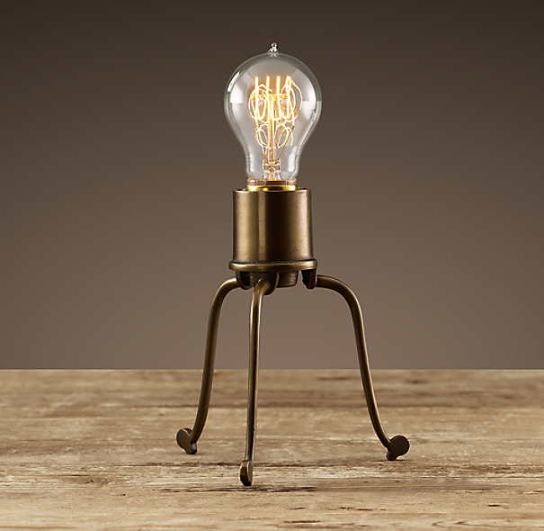 Mini-Tripod Filament Table Lamp