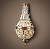 19th C. French Empire Crystal Sconce Small