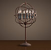 Foucault's Iron Orb Table Lamp Rustic Iron