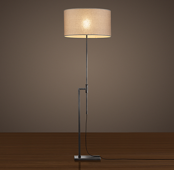 Menlo Floor Lamp Aged Steel