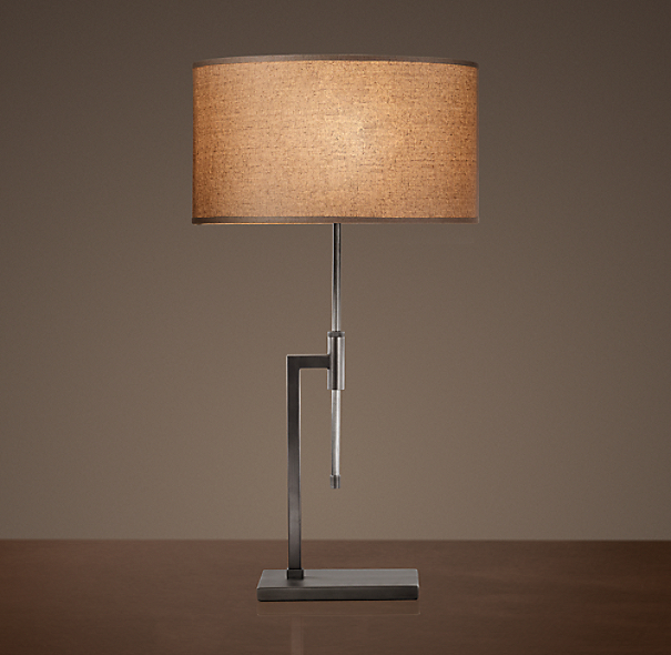 Menlo Table Lamp Aged Steel
