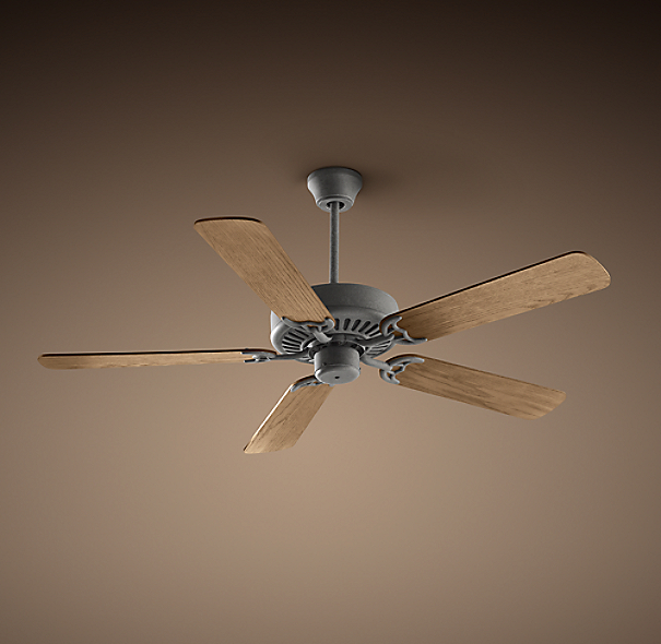 bistro ceiling fan galvanized steel. Black Bedroom Furniture Sets. Home Design Ideas