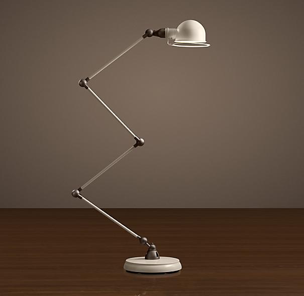 Atelier Scissor Task Floor Lamp White Enamel | Task | Restoration ...