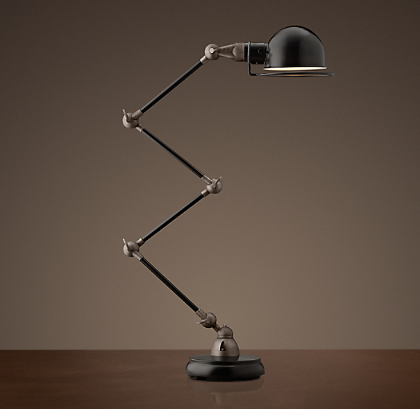 Atelier Scissor Task Table Lamp Black Enamel