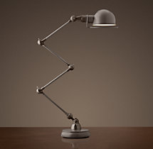 Atelier Scissor Task Table Lamp Grey Enamel