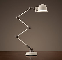 Atelier Scissor Task Table Lamp White Enamel