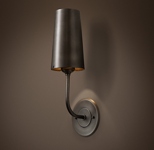 Modern Taper Metal Sconce