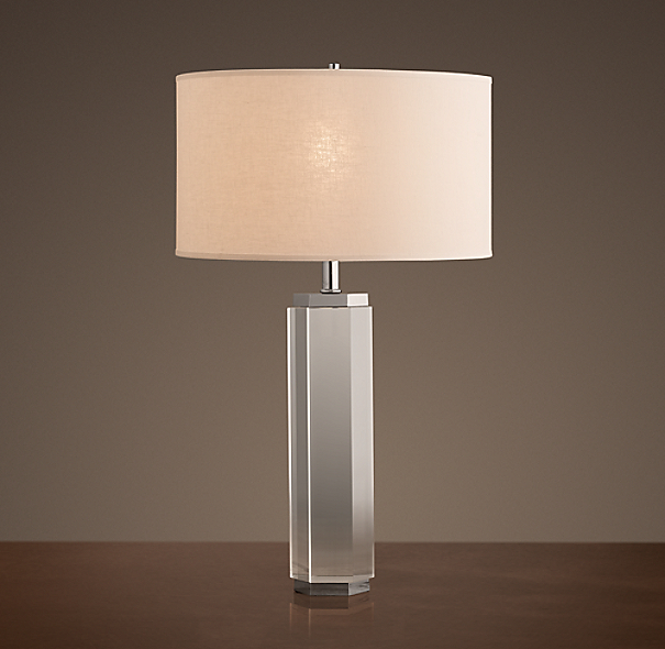 Hexagonal Column Table Lamp Crystal