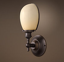 Vintage English Oval Single Sconce