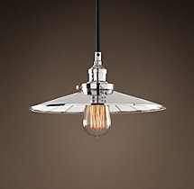 "Reflector Filament 11"" Pendant Polished Nickel"