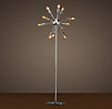 Sputnik Filament Floor Lamp Polished Nickel