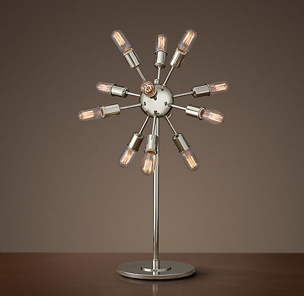 Sputnik Filament Table Lamp Polished Nickel
