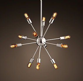 sputnik filament chandelier polished nickel medium. Black Bedroom Furniture Sets. Home Design Ideas