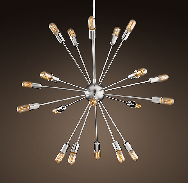 Sputnik Filament Chandelier Polished Nickel Large