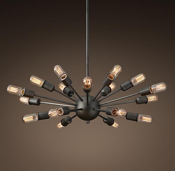 Sale alerts for  Sputnik Elliptical Filament Chandelier - Aged Steel - Covvet