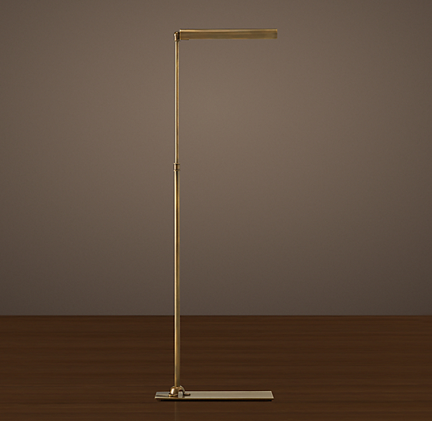 Slimline Floor Lamp Vintage Brass