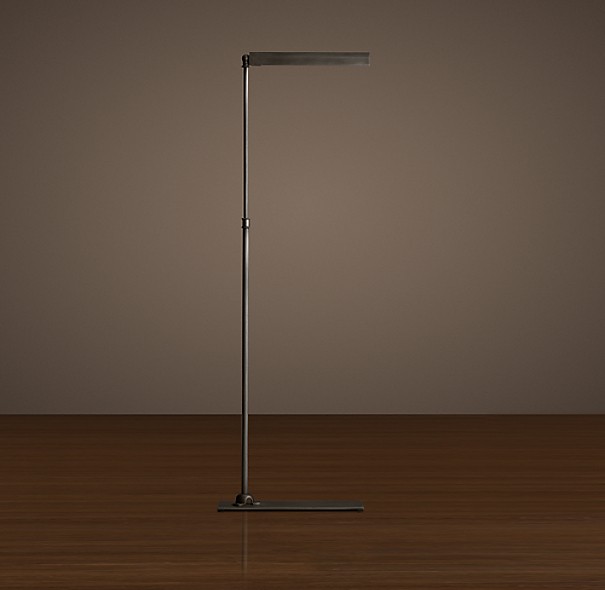 Slimline Floor Lamp Aged Steel