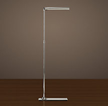 Slimline Floor Lamp Polished Nickel
