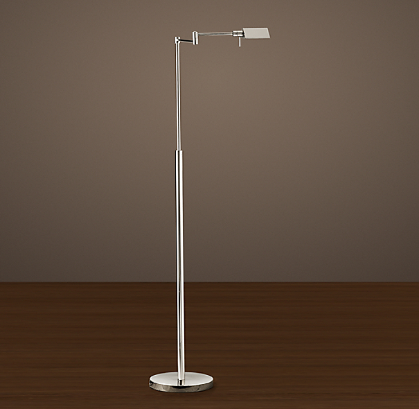 Metiér Task Floor Lamp Polished Nickel