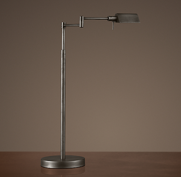 Metiér Task Table Lamp Aged Steel