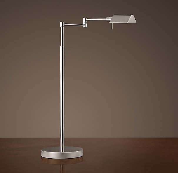 Metiér Task Table Lamp Polished Nickel