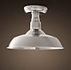 Vintage Barn Flushmount Polished Nickel