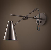20th C. Torpedo Sconce Bronze