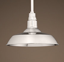 Vintage Barn Pendant Polished Nickel