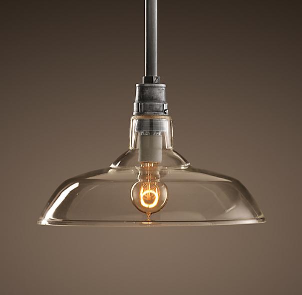 Restoration Hardware Lighting For Kitchen: Vintage Barn Glass Pendant
