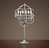 Foucault's Iron Orb Table Lamp Polished Nickel