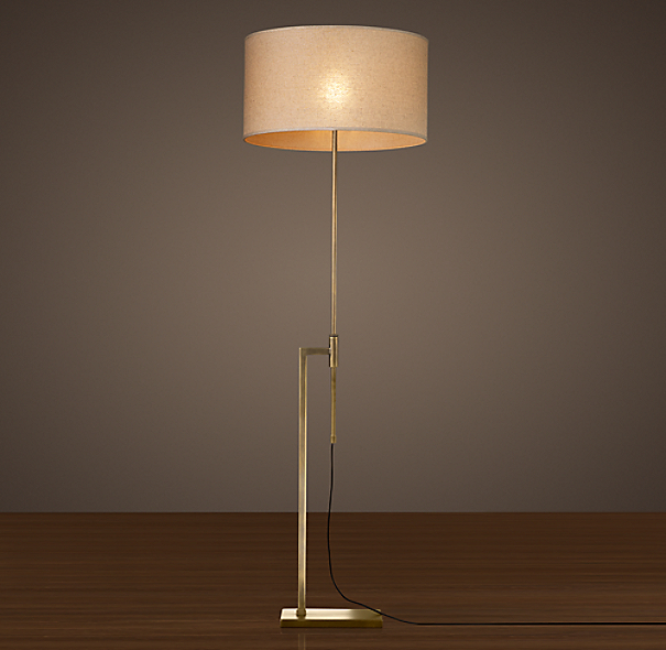 Menlo Floor Lamp Antique Brass