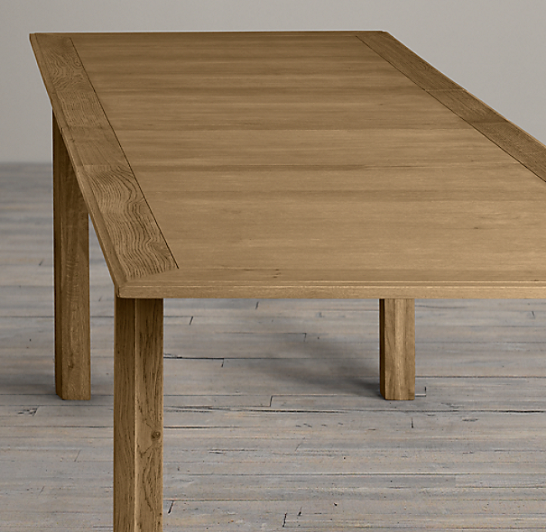 Great Drifted Oak Parsons Rectangular Extension Dining Table
